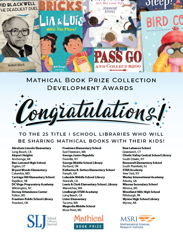 2021 Mathical Book Prize Collection Development Award Winners